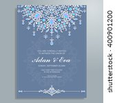 wedding invitation or card with ... | Shutterstock .eps vector #400901200