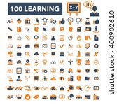 learning icons  | Shutterstock .eps vector #400902610