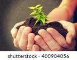 hand and plant | Shutterstock . vector #400904056