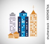 city and building icon design   ... | Shutterstock .eps vector #400908766
