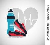 gym icon design   vector... | Shutterstock .eps vector #400909573