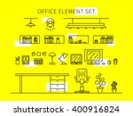office element set line art... | Shutterstock .eps vector #400916824