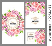 romantic invitation. wedding ... | Shutterstock . vector #400921453