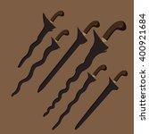 keris kris traditional weapon...   Shutterstock .eps vector #400921684