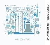 construction concept design on ... | Shutterstock .eps vector #400926580