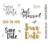 save the date wedding card.... | Shutterstock .eps vector #400930804