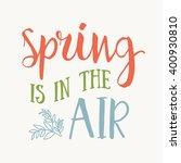 happy spring hand drawn... | Shutterstock .eps vector #400930810