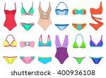 doodle bikini set. summer... | Shutterstock .eps vector #400936108