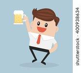 businessman drink beer | Shutterstock .eps vector #400938634