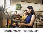 mother daughter happiness... | Shutterstock . vector #400939384