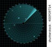 sonar screen on grid  2d vector ...   Shutterstock .eps vector #400939714