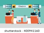 business people checking in... | Shutterstock .eps vector #400941160