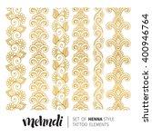 vector illustration of mehndi... | Shutterstock .eps vector #400946764