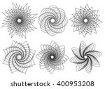 set of 6 spirally  rotating...