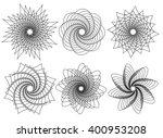 Set Of 6 Spirally  Rotating...