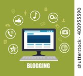 blog management  design  | Shutterstock .eps vector #400955590