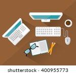 work place design  | Shutterstock .eps vector #400955773