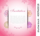 pink card with paper web over... | Shutterstock .eps vector #400960018