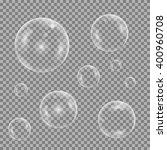 water bubble set on transparent ... | Shutterstock .eps vector #400960708