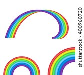 arched rainbow set on white... | Shutterstock .eps vector #400960720