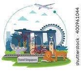 illustration. travel around...   Shutterstock .eps vector #400961044
