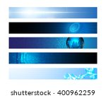 set of 5 horizontal banner... | Shutterstock .eps vector #400962259