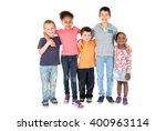 group of happy children posing... | Shutterstock . vector #400963114