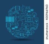 mobile technology design    Shutterstock .eps vector #400966960
