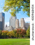 foliage in central park  new... | Shutterstock . vector #400968454