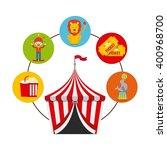 circus show design  | Shutterstock .eps vector #400968700
