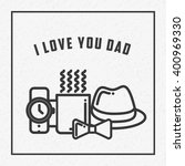 happy fathers day  | Shutterstock .eps vector #400969330