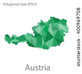 austria map in geometric... | Shutterstock .eps vector #400969708
