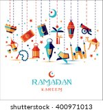 ramadan kareem icons set of... | Shutterstock .eps vector #400971013