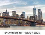 downtown manhattan skyline at... | Shutterstock . vector #400971028