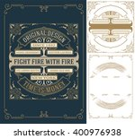 old card design with elements... | Shutterstock .eps vector #400976938