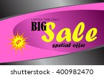 sale banner template design. | Shutterstock .eps vector #400982470