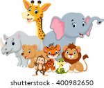 vector illustration of wild... | Shutterstock .eps vector #400982650
