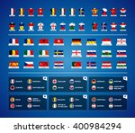 Euro 2016 France. Vector Flags...