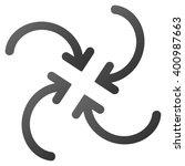 whirl arrows vector toolbar... | Shutterstock .eps vector #400987663
