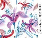 lilies seamless pattern | Shutterstock . vector #400988803