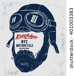 Motorcycle Rider With Retro...
