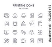 printing icons. | Shutterstock .eps vector #401005696