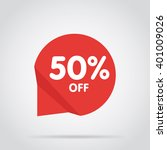 half price tag. special offer... | Shutterstock .eps vector #401009026