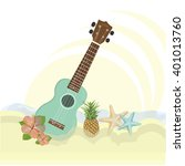 summer illustrtion of beach... | Shutterstock .eps vector #401013760