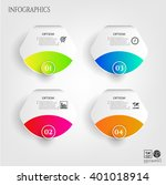 set  collection  group of four... | Shutterstock .eps vector #401018914