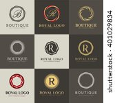 luxury logo set. a collection... | Shutterstock .eps vector #401029834