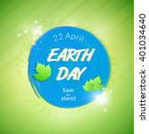 earth day poster concept.... | Shutterstock .eps vector #401034640