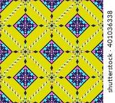 vector tribal ethnic ornament.... | Shutterstock .eps vector #401036338