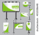 vector outdoor advertising... | Shutterstock .eps vector #401038648