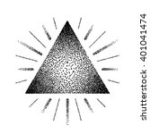dotwork raster triangle with... | Shutterstock .eps vector #401041474